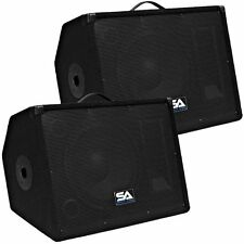 "Seismic Audio Pair 12"" Floor/Studio/Stage Monitors~New PA/DJ Speakers"