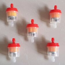 "5X 1/4"" 6mm Hose Universal Motorcycle Scooter Gasoline Inline Fuel Gas Filter CG"