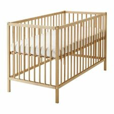 IKEA SNIGLAR Baby Cot Bed 120 x 60cm Beech Wood,Adjustable Levels,Nursery Cot