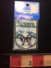 Vintage ALASKA Alaskan Malamute State Dog Patch Emblem ~ Voyager Brand 72X