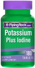 POTASSIUM plus IODINE 225MCG IODIDE SUPPLEMENT THYROID HEALTH 180 TABLETS