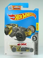 Hot Wheels 2016 #45 Z-Rod GOLD CHROME,2ndCOLOR,NEW MODEL,GREY TIRE,BLK PR5,INTL