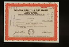 Canada : Canadian Homestead Oils Limited Alberta iss to Greenfields dd 1979