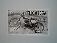 advertising Pubblicità 1975 MOTO MONTESA ENDURO 250