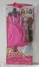 BARBIE FASHIONISTA ~ 2015 CAREER ~ PINK JERSEY w/METALLIC TOP & VIOLIN ~ NEW