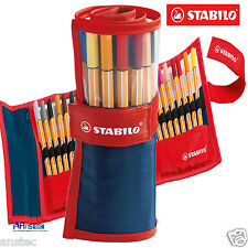 STABILO Fineliner Point 88 Ballpoint Pen Rollerset Wallet of 25