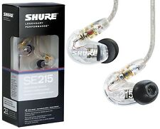 SHURE SE215-CL In-Ear Headphones Earphones Professional IEM Monitor Earbud Clear
