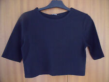 MISGUIDED. BLACK SHORT SLEEVED TOP. SIZE 10.  NWT.
