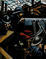 Nevinson Wynne Richard Christopher The Machine Gun Print 11 x 14  #  #3226
