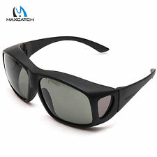 Fly Fishing Sunglasses OverFit Grey Polarised UV400 Protective Outdoor