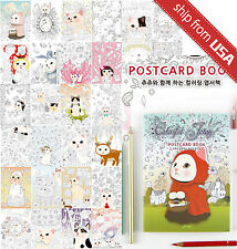 Colorful Jetoy Choo Choo Cat Postcards Coloring Book Adult Art Therapy Gift cute