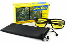New Real Night Driving Glasses Yellow Sunglasses Goggles Vision Lens Lenses