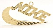 10K Solid Gold NIKE Pendant Sports Athlete Runner Shoes Just Do It Free Shipping