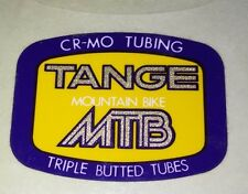 TANGE MTB FRAME TUBING DECAL 'CRO-MO TUBING' 'TRIPLE BUTTED TUBES' VINTAGE