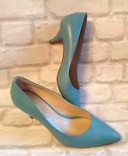 Hobbs London Size 8 Ladies Turquoise Court Shoes Worn Once