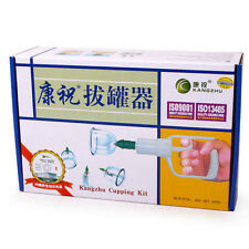 Vacuum Suction Kangzhu Chinese Body Cupping Kit 12 Cups Massage Cupping Set L