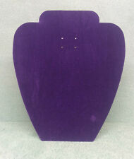 Set of 5 Jewellery Display Card Busts [A] Spring Purple