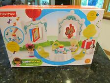 Fisher Price Little People New Happy Birthday Party Balloon Cake dog present toy