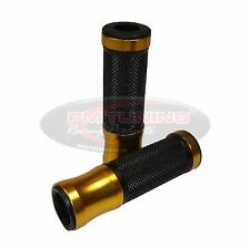 Anti-Vibration Alumi-Tech Black Rubber & Gold Grips - VESPA ET4 125 50 & ET2 50