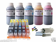 5 Refillable cartridge Canon PGI-250 251 MX722 MX922 iP7220 iX6820 5X250ml INK