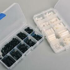 300pcs Nylon Hex M3 Spacers Screw Nut Standoff Kit Box White and Black NEO@