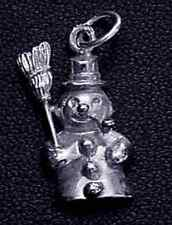 LOOK Silver .925 Christmas Frosty the Snowman charm pendant
