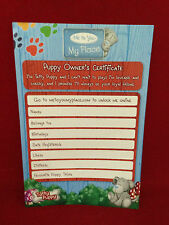 Carta BIANCA Me to You Tatty Puppy Dog proprietari di certificato di nascita REGALO