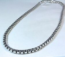 "New David Yurman Men's Extra Large Box Chain Necklace Sterling Silver 24"" $890"