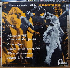 NORMAN MAINE ET SON ORCHESTRE TYPIQUE CO-CO CALYPSO FRENCH EP FONTANA 1958