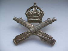 original vintage  machine gun corps cap badge  officers  silver ?  finish