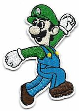 Luigi running looking back Super Mario Bro Embroidered Iron On/Sew On Patch