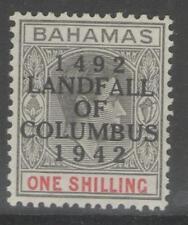 BAHAMAS SG171a 1942 1/= BLACK & CARMINE MTD MINT