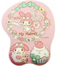 Mouse Pad + Hand Wrist rest Sanrio My Melody Comfort Wavy 3D Sweets Pretty Pink