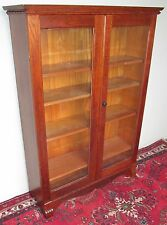 19TH CENT VICTORIAN DOUBLE GLASS DOOR BOOKCASE