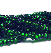 Silver Lined Green Czech 11/0 Glass Seed Beads 1 (6 String Hanks Preciosa