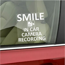 1 x Smile In Car Camera Recording Sticker-Van,Taxi,Mini Cab Sign-Go Pro,Dashcam