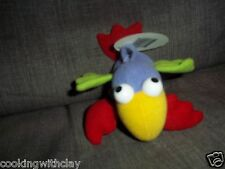 NEW TINY LOVE PLUSH BABY RATTLE PLUSH DOLL FIGURE BIRD BRIGHT COLOR CRACKLES