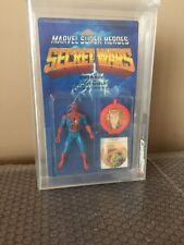 Vintage Mattel 1984 Secret Wars Spiderman AFA 85 crystal clear bubble