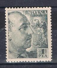 ESPAÑA 1056** SELLO 1 PESETAS NMEGRO  FRANCO 1951