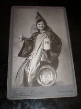 Cdv old photograph woman HB beer by Gustav Baader Krumbach Germany c1890s