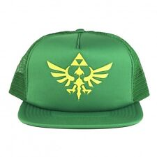 NINTENDO'S THE LEGEND OF ZELDA GREEN TRUCKER RUBBER TRIFORCE SNAPBACK CAP *NEW*
