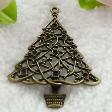 Free Ship 14 pcs bronze plated Christmas tree pendant 63x49mm #232