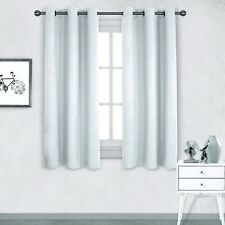"""1 PANEL PURE WHITE LINED THERMAL BLACKOUT ANTIQUE GROMMET WINDOW CURTAIN #72 63"""""""