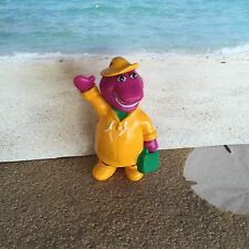 HTF BARNEY THE DINOSAUR  WEARING A RAINCOAT FIGURE CAKE TOPPER DECORATION PLAY