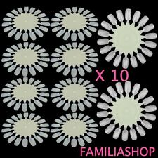 10 Display Nuancier Présentoir Vernis Ongles Naturel Nail Art Manucure