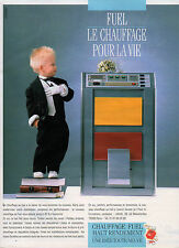 Publicité 1986  CHAUFFAGE FUEL