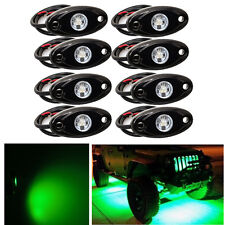 "8x 2"" GREEN CREE LED Rock Light Off-Road Underglow Foot Wheel Well Lights Trucks"