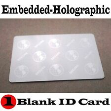 (1)  HOLOGRAPHIC ID CARD- (blank SECURE/GLOBE - Embedded Hologram images