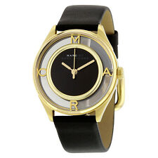 Marc By Marc Jacobs Tether Black Dial Black Leather Strap Ladies Watch MBM1376