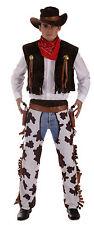 Homme cowboy déguisement comprend chapeau bandana gilet chaps